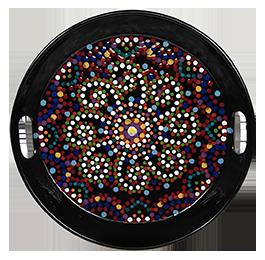 Hyderabad Mosaic Mandala Tray